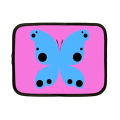 Pink Blue Butterfly Animals Fly Netbook Case (small)