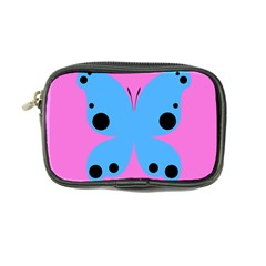Pink Blue Butterfly Animals Fly Coin Purse