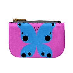 Pink Blue Butterfly Animals Fly Mini Coin Purses