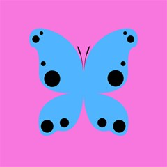 Pink Blue Butterfly Animals Fly Magic Photo Cubes