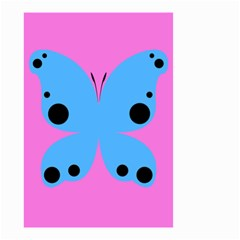 Pink Blue Butterfly Animals Fly Small Garden Flag (Two Sides)