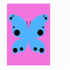 Pink Blue Butterfly Animals Fly Large Garden Flag (Two Sides)