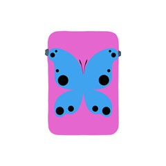Pink Blue Butterfly Animals Fly Apple iPad Mini Protective Soft Cases