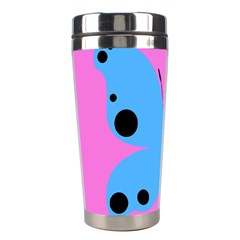 Pink Blue Butterfly Animals Fly Stainless Steel Travel Tumblers