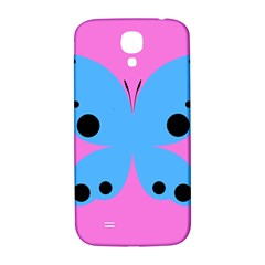 Pink Blue Butterfly Animals Fly Samsung Galaxy S4 I9500/I9505  Hardshell Back Case