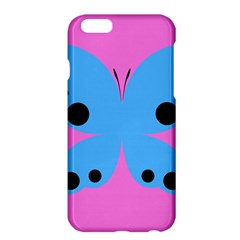 Pink Blue Butterfly Animals Fly Apple Iphone 6 Plus/6s Plus Hardshell Case