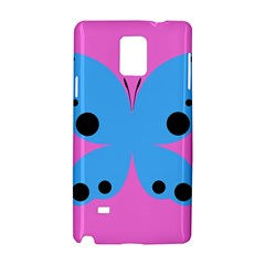 Pink Blue Butterfly Animals Fly Samsung Galaxy Note 4 Hardshell Case