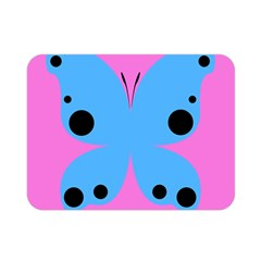 Pink Blue Butterfly Animals Fly Double Sided Flano Blanket (Mini)