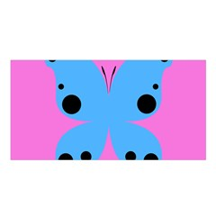 Pink Blue Butterfly Animals Fly Satin Shawl