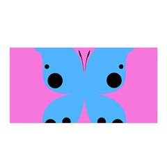 Pink Blue Butterfly Animals Fly Satin Wrap