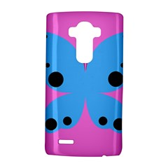 Pink Blue Butterfly Animals Fly LG G4 Hardshell Case