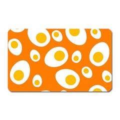Orange Circle Egg Magnet (Rectangular)