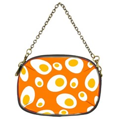 Orange Circle Egg Chain Purses (Two Sides)