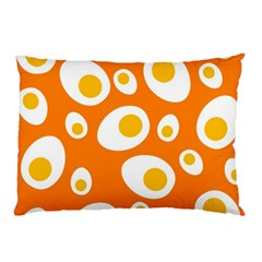 Orange Circle Egg Pillow Case (Two Sides)