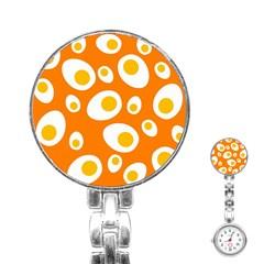 Orange Circle Egg Stainless Steel Nurses Watch