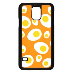 Orange Circle Egg Samsung Galaxy S5 Case (Black)