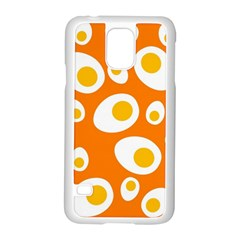 Orange Circle Egg Samsung Galaxy S5 Case (White)