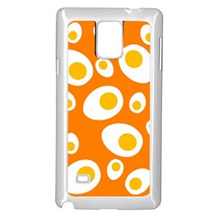 Orange Circle Egg Samsung Galaxy Note 4 Case (White)