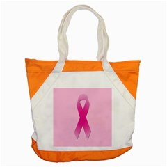 Pink Breast Cancer Symptoms Sign Accent Tote Bag
