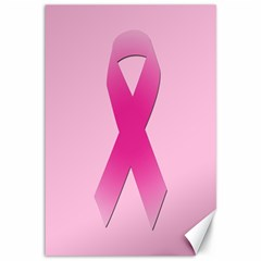 Pink Breast Cancer Symptoms Sign Canvas 12  x 18