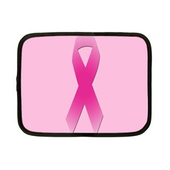 Pink Breast Cancer Symptoms Sign Netbook Case (Small)
