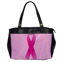 Pink Breast Cancer Symptoms Sign Office Handbags