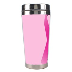 Pink Breast Cancer Symptoms Sign Stainless Steel Travel Tumblers