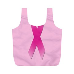 Pink Breast Cancer Symptoms Sign Full Print Recycle Bags (M)