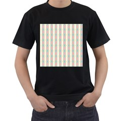 Rabbit Eggs Animals Pink Yellow White Rd Blue Men s T-Shirt (Black) (Two Sided)
