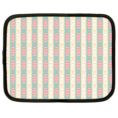 Rabbit Eggs Animals Pink Yellow White Rd Blue Netbook Case (Large)