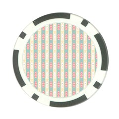 Rabbit Eggs Animals Pink Yellow White Rd Blue Poker Chip Card Guard (10 pack)