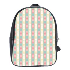 Rabbit Eggs Animals Pink Yellow White Rd Blue School Bags(Large)