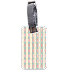 Rabbit Eggs Animals Pink Yellow White Rd Blue Luggage Tags (One Side)