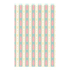 Rabbit Eggs Animals Pink Yellow White Rd Blue Shower Curtain 48  x 72  (Small)