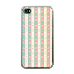 Rabbit Eggs Animals Pink Yellow White Rd Blue Apple iPhone 4 Case (Clear)