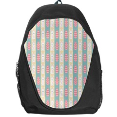 Rabbit Eggs Animals Pink Yellow White Rd Blue Backpack Bag