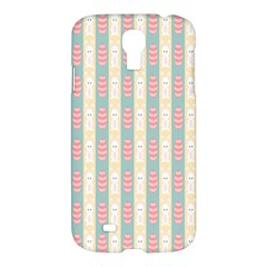 Rabbit Eggs Animals Pink Yellow White Rd Blue Samsung Galaxy S4 I9500/I9505 Hardshell Case