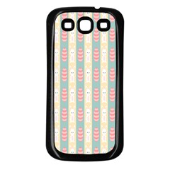 Rabbit Eggs Animals Pink Yellow White Rd Blue Samsung Galaxy S3 Back Case (Black)