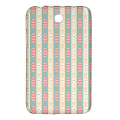 Rabbit Eggs Animals Pink Yellow White Rd Blue Samsung Galaxy Tab 3 (7 ) P3200 Hardshell Case