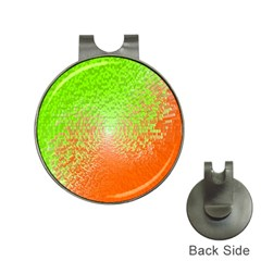 Plaid Green Orange White Circle Hat Clips with Golf Markers