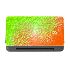 Plaid Green Orange White Circle Memory Card Reader with CF
