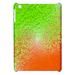 Plaid Green Orange White Circle Apple iPad Mini Hardshell Case