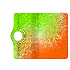 Plaid Green Orange White Circle Kindle Fire HDX 8.9  Flip 360 Case