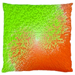 Plaid Green Orange White Circle Standard Flano Cushion Case (Two Sides)