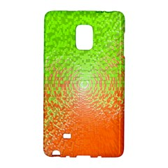 Plaid Green Orange White Circle Galaxy Note Edge
