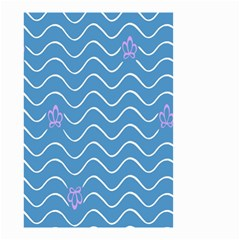 Springtime Wave Blue White Purple Floral Flower Small Garden Flag (Two Sides)