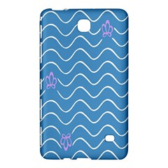 Springtime Wave Blue White Purple Floral Flower Samsung Galaxy Tab 4 (7 ) Hardshell Case