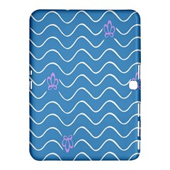 Springtime Wave Blue White Purple Floral Flower Samsung Galaxy Tab 4 (10.1 ) Hardshell Case