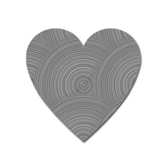 Circular Brushed Metal Bump Grey Heart Magnet