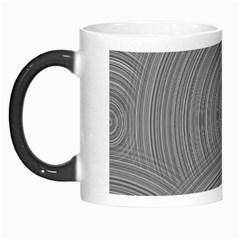 Circular Brushed Metal Bump Grey Morph Mugs